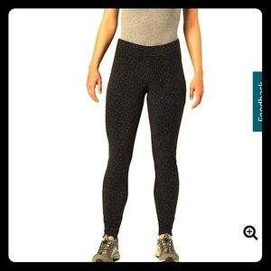 Columbia black and polka dot fleece leggings